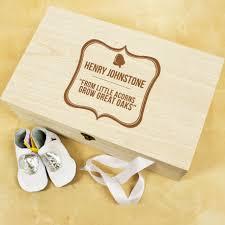 Personalized Keepsake Personalised Baby Acorn Sentiment Keepsake Box Hugs By Post