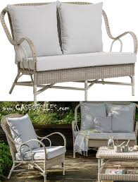 canape rotin canapé rotin outdoor 2 pl coussin perle 1604 552
