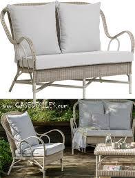 canape en rotin canapé rotin outdoor 2 pl coussin perle 1604 552