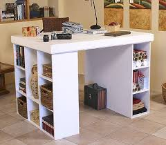Desk With Cable Management by Craft Table Storage Craft Room Progression Diy Work Table Built In