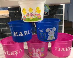 personalized easter buckets easter