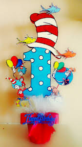dr seuss theme centerpiece the cat in the hat one fish two fish