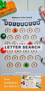 halloween letter search cute worksheets free malaysian mom