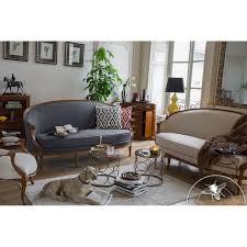 canap louis xv sofa louis xv style light grey fabric pompadour saulaie