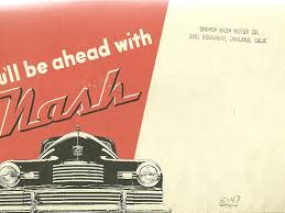 1946 nash 600 art deco look foldout brochure 29 95