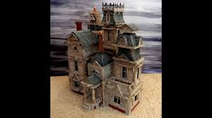 miniature halloween ornaments haunted house miniature for halloween display youtube
