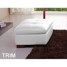 white italian leather ottoman trim italian leather ottoman in white city schemes contemporary