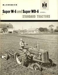 mccormick super w 6 and super wd 6 standard tractors
