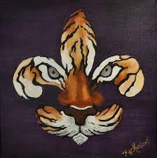 Fleur De Lis Home Decor Lafayette La Fleur De Lis Paintings Louisiana Artists Fleur De Tigre By