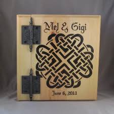 personalized wedding photo album handfasting wedding album with a celtic wedding knot project fey