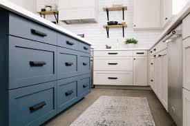 navy blue kitchen cabinets with black handles how changing one thing can change everything in kitchens and