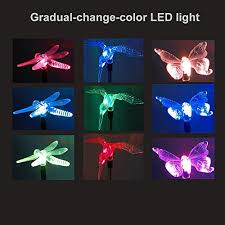 2 sets 4led version hallomall solar powered color changing