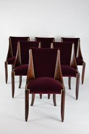 Art Deco Dining Room Set by Dining 1930s French Art Deco Leleu Dining Room Chairs Set 6 0