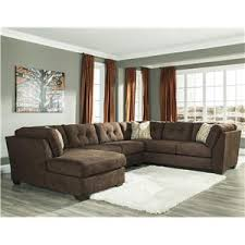 3 Piece Sectional Sofa With Chaise by Benchcraft Delta City Chocolate 3 Piece Modular Sectional With