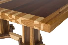 walnut dining table base timber edge tables from erik organic