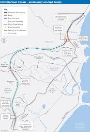 Northern Lights Map Coffs Harbour Bypass Planning Northern Nsw Projects Roads