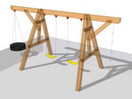 Best Backyard Swing Sets by Best 25 Wooden Swings Ideas On Pinterest Wooden Tree Swing