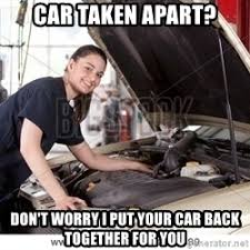 Car Mechanic Memes - car girl meme auto hobby