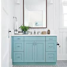 Turquoise Bathroom Vanity Sullivan S Island Bungalow Bathroom Coastal Decor