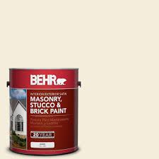 behr 1 gal white satin enamel masonry stucco and brick paint