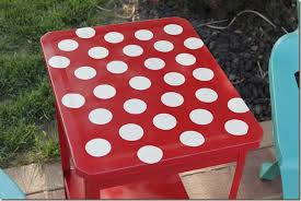 Dot Patio Furniture by Polka Dot Patio Table Reinvented