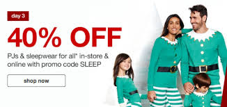 target 40 pajamas for the whole family with free