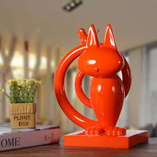 best and cheap orange tomfeel hide and seek resin sculpture home