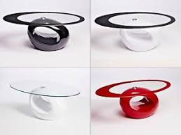 red and black coffee table designer oval black red white glass coffee table contemporary modern