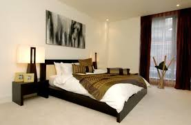 Striped Wall Art In Bedroom Interior Design With Beautiful Storage - Interior designing of bedroom