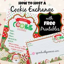 how to host a cookie exchange free printable invitations and