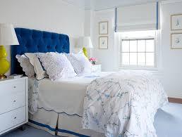 Modern White Headboard by Blue Velvet Tufted Headboard Design Ideas