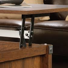 sauder carson forge sofa table washington cherry finish get