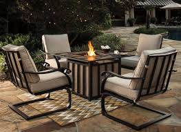 Outdoor Table With Firepit by Signature Design By Ashley Wandon Outdoor 5 Piece Fire Pit Table