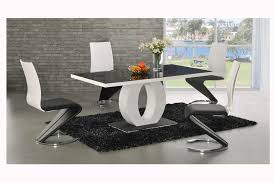 Modren Modern Black Dining Room Sets Me But White And Gold To - Black and white dining table with chairs
