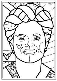 britto para colorear obras de romero britto para colorir az dibujos para colorear