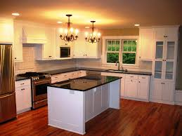 tips to design white kitchen island midcityeast add classic chandeliers inside old fashioned kitchen with white kitchen island and black countertop