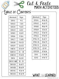 Third Grade Social Studies Worksheets Third Grade Cut U0026 Paste Math Activities