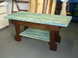 Pallet Coffee Tables Shabby Chic Pallet Coffee Table U2022 1001 Pallets