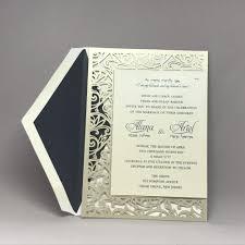 custom wedding invitations fancy laser cut hebrew and wedding invitation custom