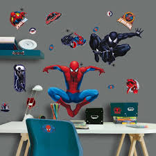 decofun spiderman maxi sticker children kids bed room wall