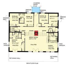 berm house floor plans attractive berm house plan 35458gh architectural designs