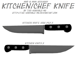 mmd m3 accessory kitchen knife dl by the horrible mu on