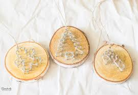 rustic twine wood slice ornaments domestically speaking