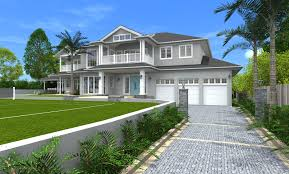 Styles Of Homes by Architect Design 3d Concept Hamptons Style St Ives Sydney