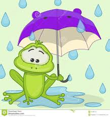 frog with umbrella stock vector image 41998113