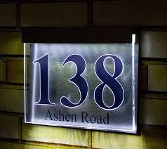 Lighted House Number Sign Lighted Address Plaque Ideas Installing Lighted Address Plaque