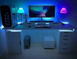 Gaming Desk Setup Catchy Gaming Computer Desk Setup Best Ideas About On With Regard