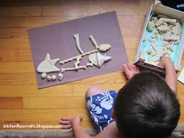 kitchen floor crafts homemade dinosaur bones