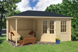 kennet log cabin with side porch 3 0x2 5m 2 5m