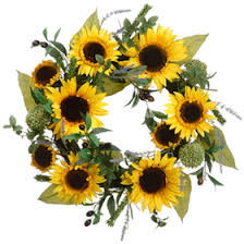 silk sunflowers 22 silk sunflower lavender olive flower hanging wreath yellow